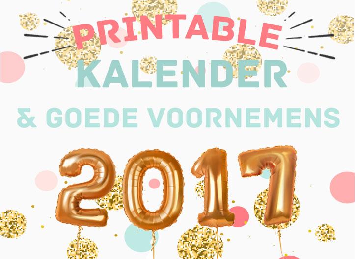 Te gekke gratis kalender printable voor 2017