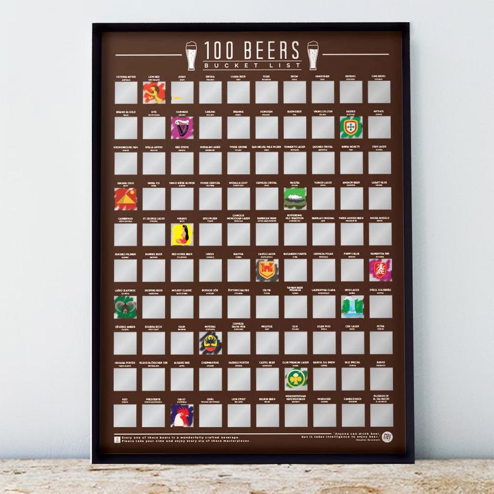 100 bieren kras poster