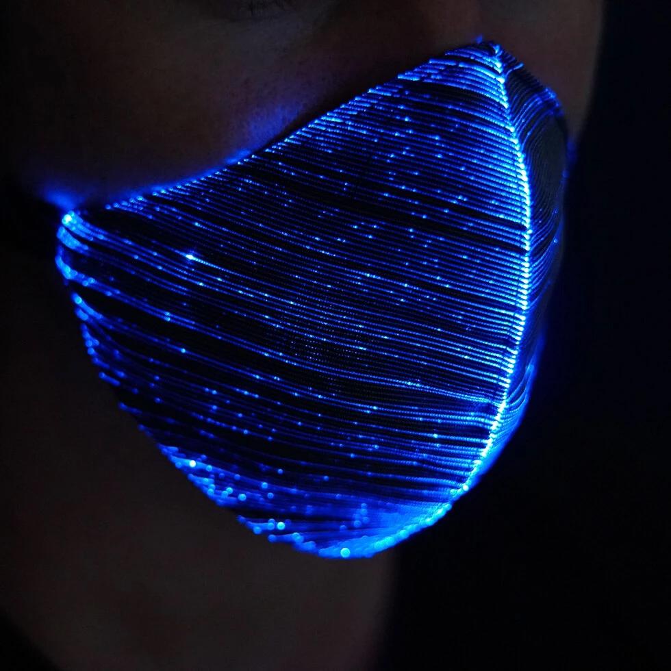 Lichtgevend mondmasker