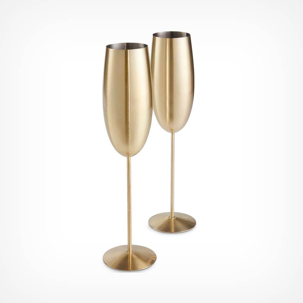 Gouden Champagne Glazen set van 2