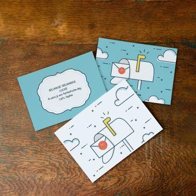 Verjaardagspost met kaart en tekst