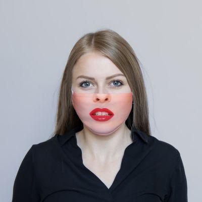Rode lippen mondmasker