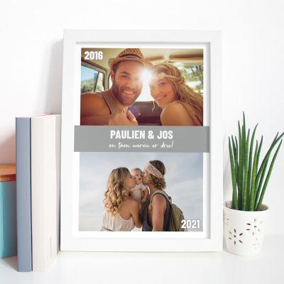 Poster met 2 foto's en tekst