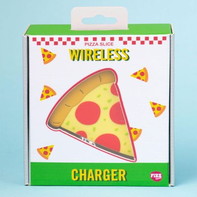 Draadloze oplader pizzastuk