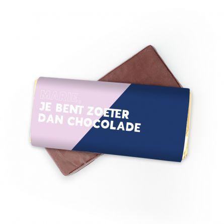 Personaliseerbare chocolade