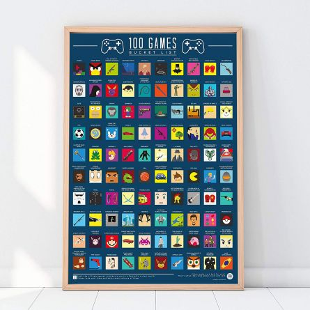 Kras poster 100 spelletjes