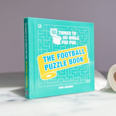 Voetbal puzzelboek voor op het toilet
