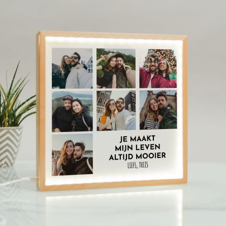 Light box met 7 foto's en tekst