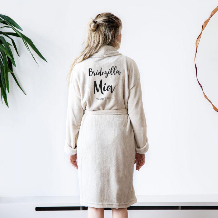 Personaliseerbare badjas met naam