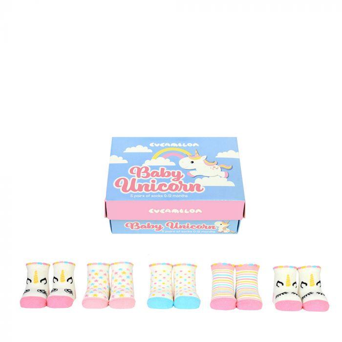 Eenhoorn baby-sokken - set van 5