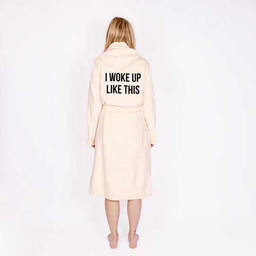 Personaliseerbare badjas met tekst
