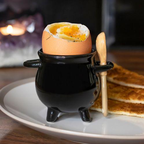 Heksenketel eierdopje met bezemsteel lepel