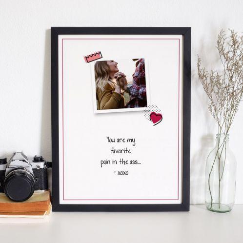 Personaliseerbare poster met foto en quote