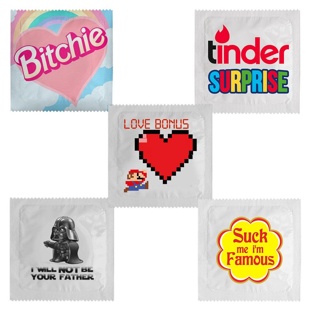 Grappige condooms