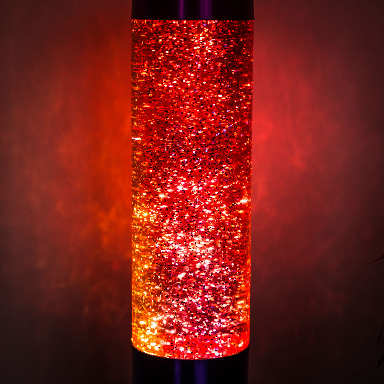Regenboog glitter lavalamp