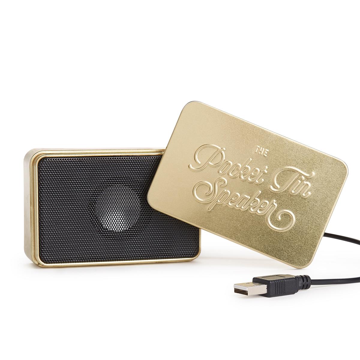 Mini Bluetooth luidspreker in een blikje