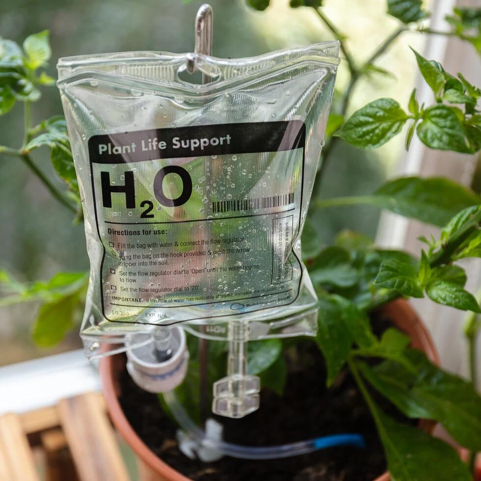 Nood-irrigatie voor planten