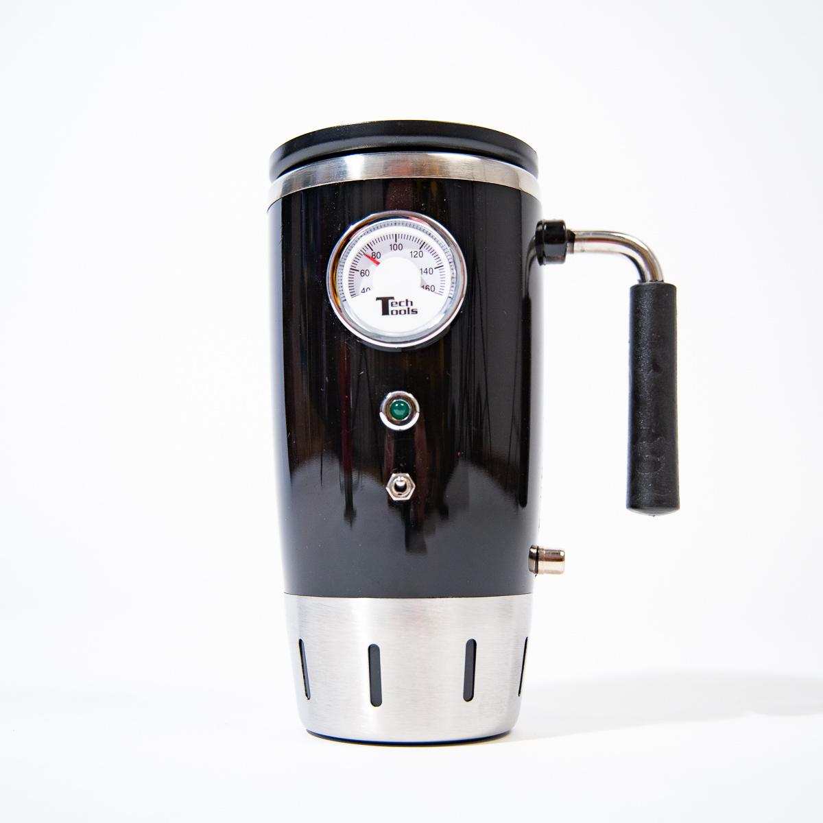 Verwarmde retro drinkbeker met thermometer
