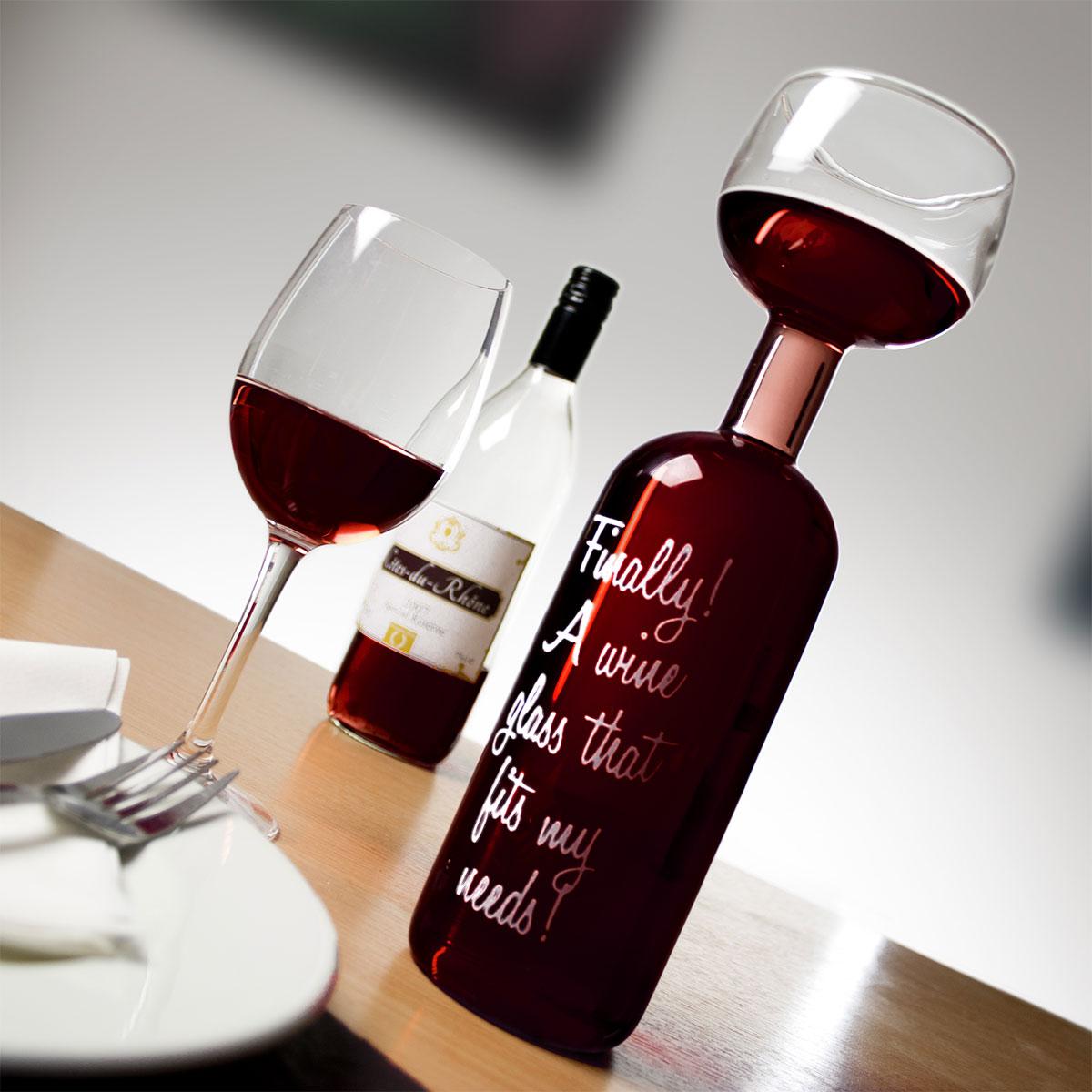 Wijnflesglas