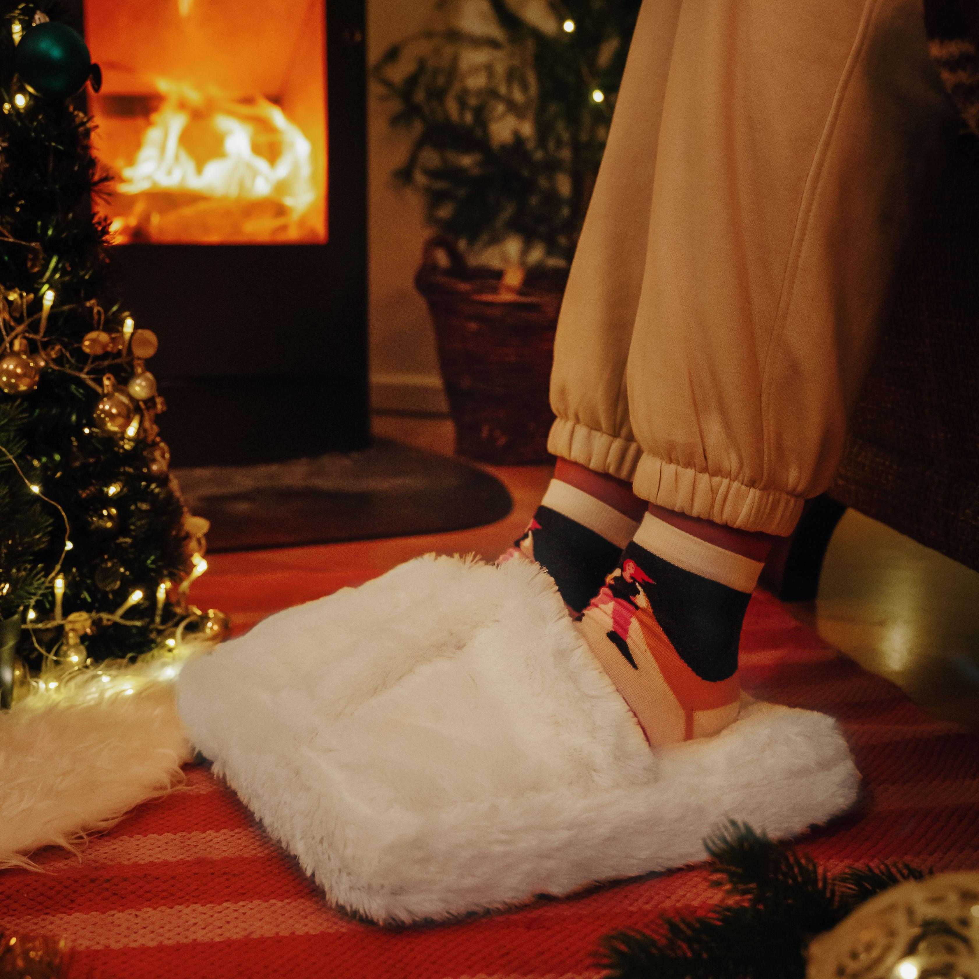 Kerstcadeau Vrouw Voetmassage-apparaat van pluche