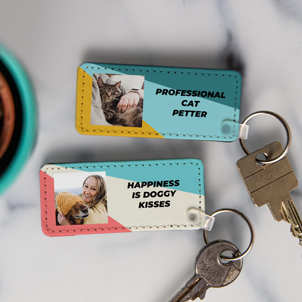Huisdieren cadeau sleutelhanger met foto en tekst
