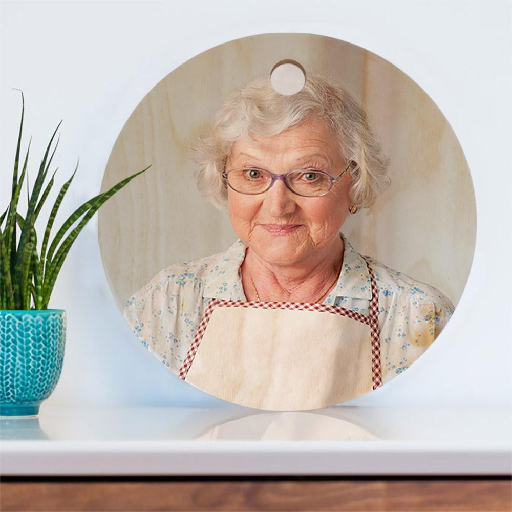 Cadeau voor mama Snijplank met foto
