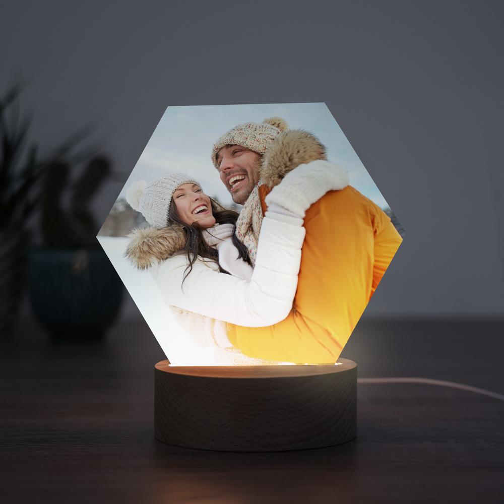 Kerstcadeau man LED lamp met foto