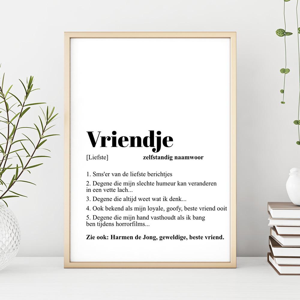 Cadeau voor hem: Woordenboek Poster