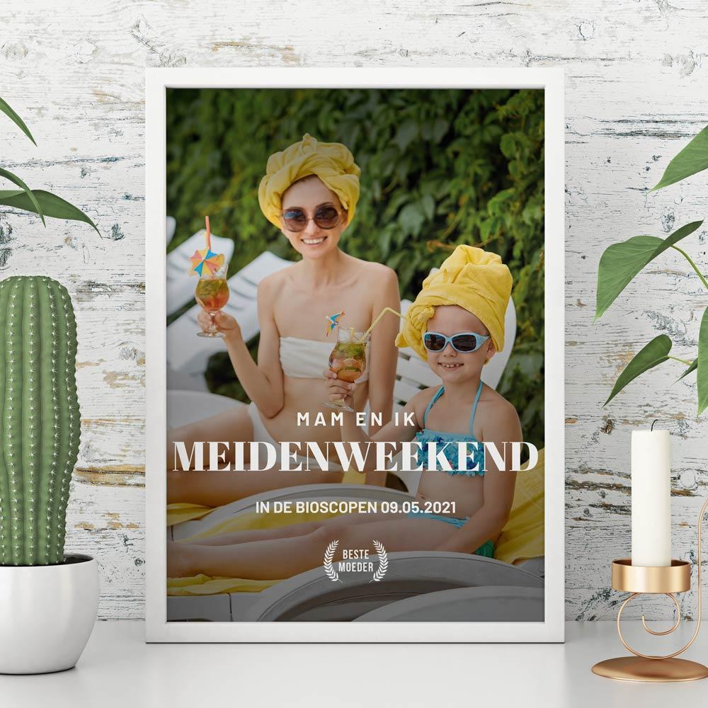 Cadeau voor mama Personaliseerbare poster in filmposter stijl