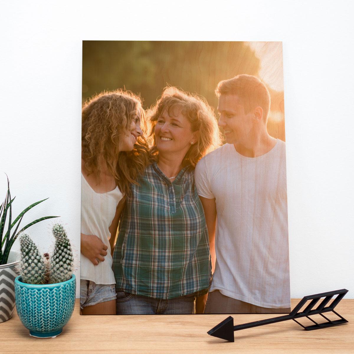 kerstcadeau voor ouders - foto op hout