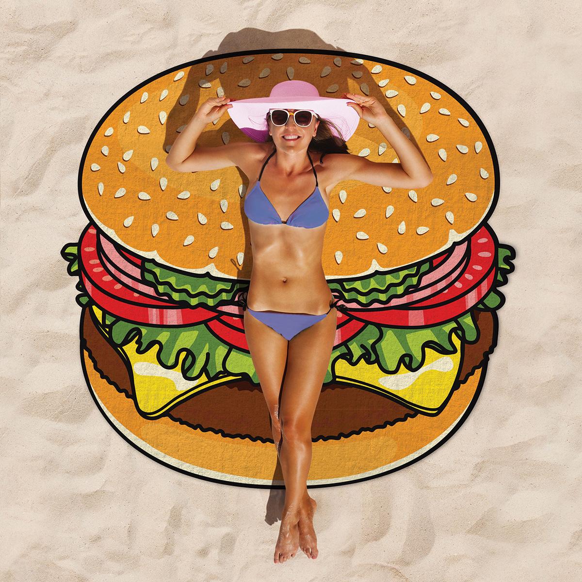 Cheeseburger strandlaken