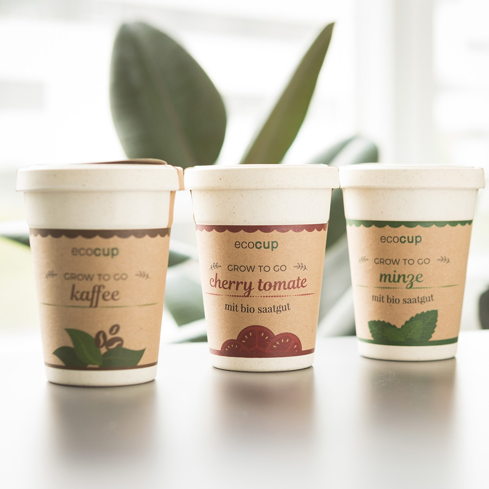 Ecocup – Planten in koffiebekers