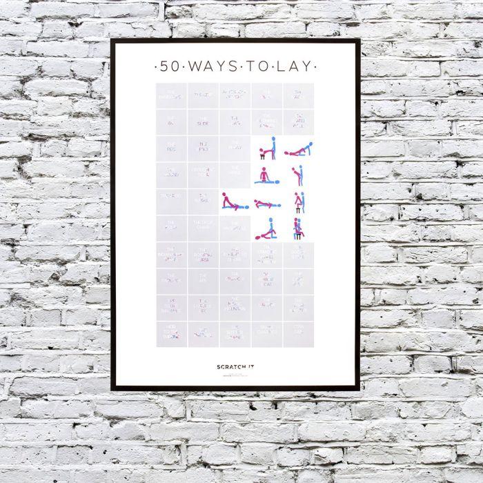 Kras poster – de 50 standjes