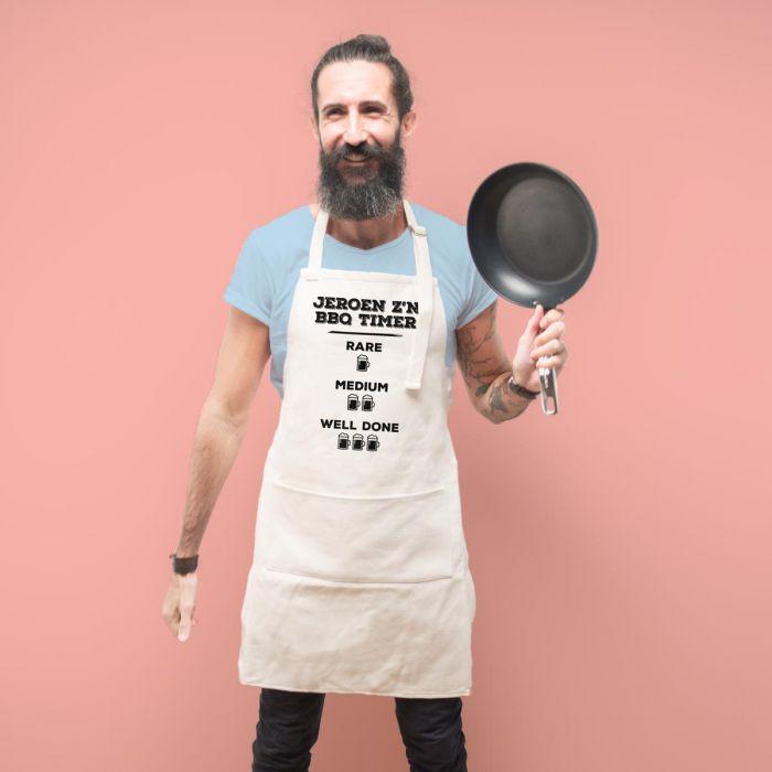 Personaliseerbaar keuken schort – grillmeester