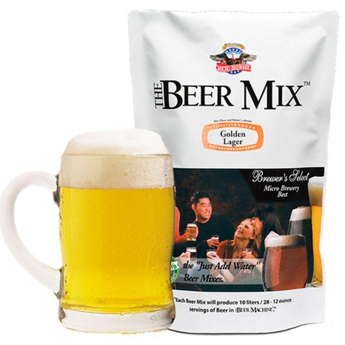 Navulling van de biermachine - Golden Lager, Vienna en Canadian Red Lager Mix