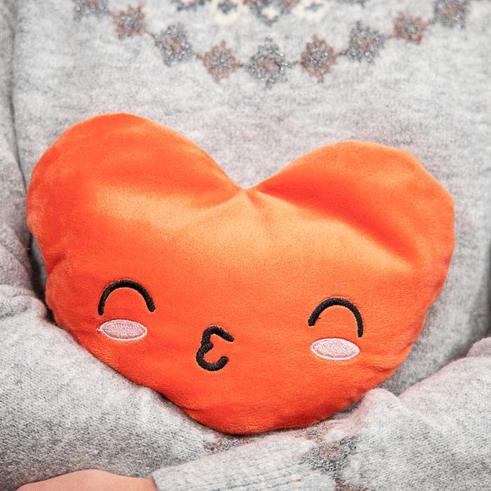 Verwarmbaar kussen in hartvorm