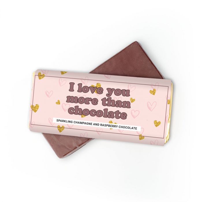 Champagne frambozen chocolade – I love you more