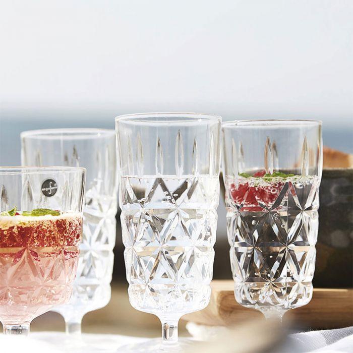 Picknick glazen in een set van 4