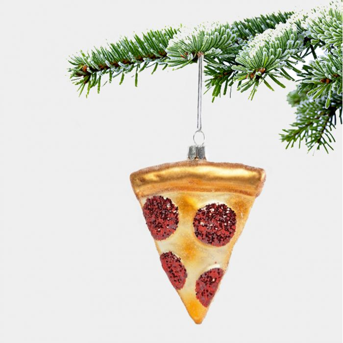 Pizza kerstboom decoratie