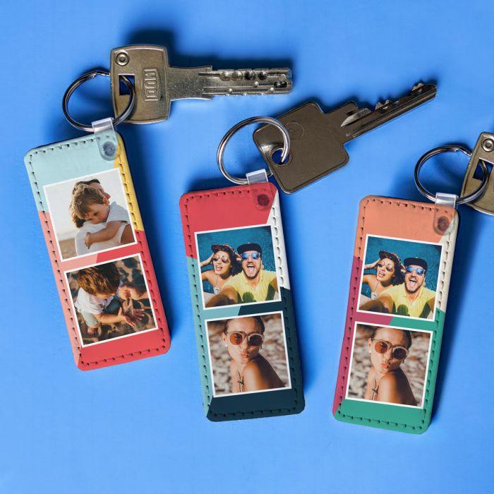 Personaliseerbare sleutelhanger met 2 afbeeldingen