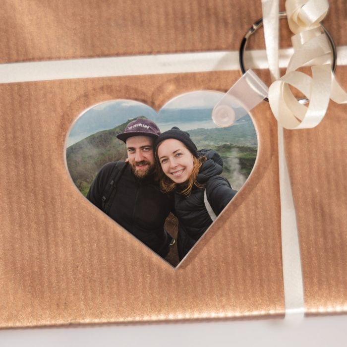 Hanger met foto in hartvorm