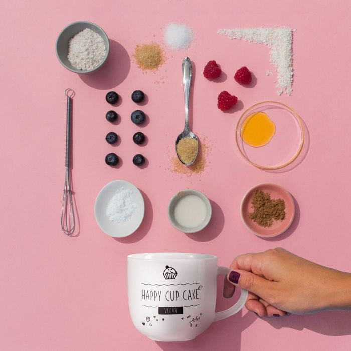 Koffiekopje met Vegan Mug Cake recept