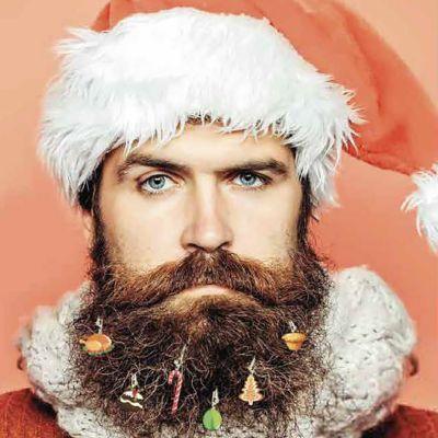 Kerstboom baarddecoratie