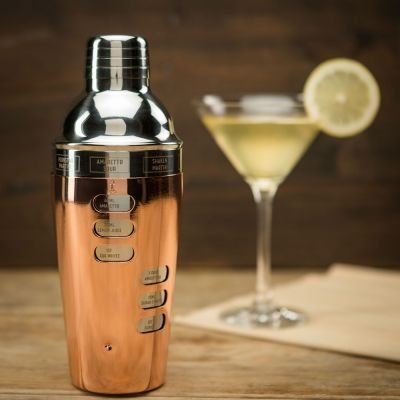 Design cocktailshaker met recepten