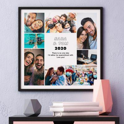 Poster met 8 foto's en tekst