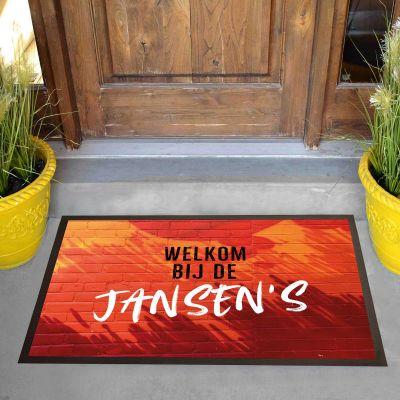 Gele personaliseerbare deurmat
