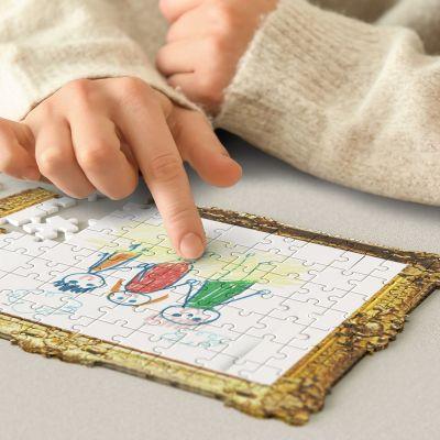 Doe-het-zelf puzzel kindertekeningen