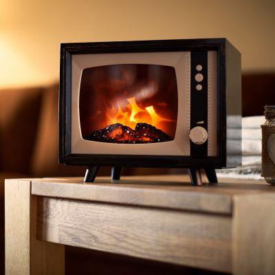 Elektrische mini-tv haard