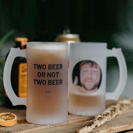 Personaliseerbare bierpul met foto en tekst
