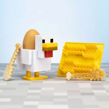 Minecraft eierdopje en toast sjabloon